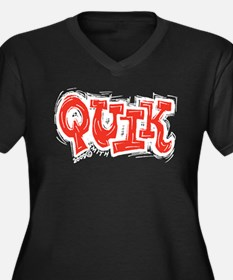Quik Women's Plus Size V-Neck Dark T-Shirt