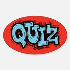 Quiz Oval Decal