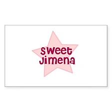 Sweet Jimena Rectangle Decal