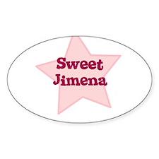 Sweet Jimena Oval Decal
