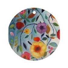 GARDEN FLOWERS Ornament (Round)