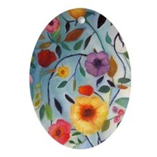 GARDEN FLOWERS Ornament (Oval)