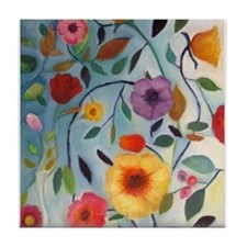 GARDEN FLOWERS Tile Coaster