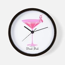 Drink Pink Wall Clock