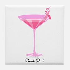Drink Pink Tile Coaster