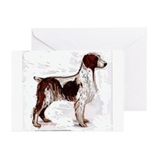 brittany spaniel portrait Greeting Cards (Package