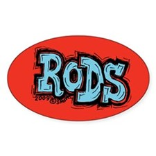 Rods Oval Decal