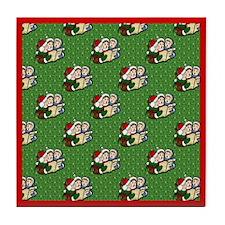 Christmas Carolers Tile Coaster