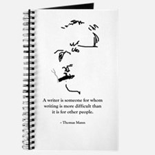 T Mann: A writer is someone f Journal