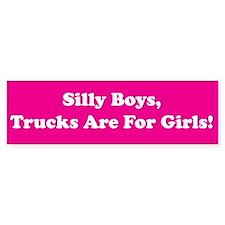 Silly Boys Bumper Car Sticker