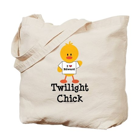 I Love Edward Twilight Chick Tote Bag