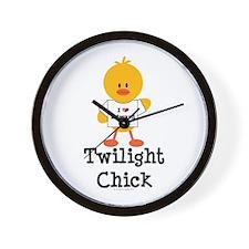 I Love Edward Twilight Chick Wall Clock