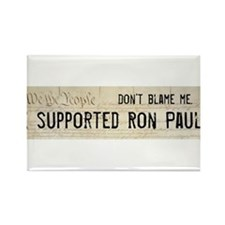 "Ron Paul Bumper Magnet ""Don't Blame Me"""