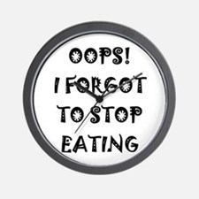 Oops! I forgot to stop eating Wall Clock