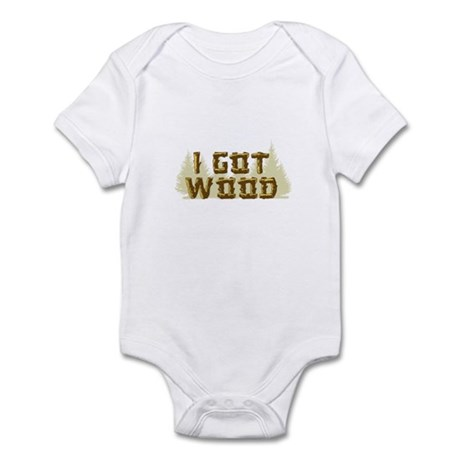 Shaun of the Dead I Got Wood Infant Bodysuit