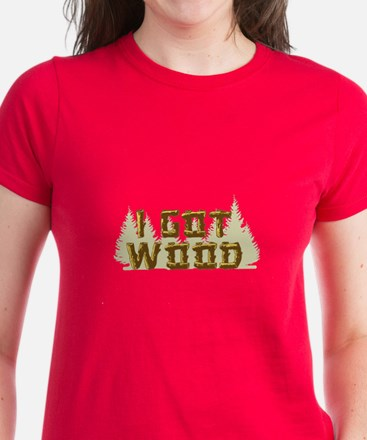 Shaun of the Dead I Got Wood Women's Dark T-Shirt
