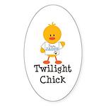 Team Jacob Twilight Chick Oval Sticker (50 pk)