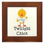 Team Jacob Twilight Chick Framed Tile