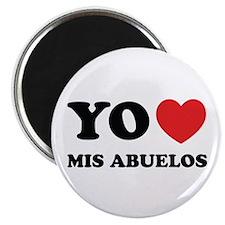 "Yo Amo Mis Abuelos 2.25"" Magnet (10 pack)"