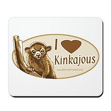 I Love Kinkajou Mousepad