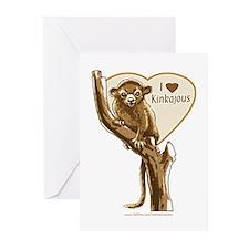 I Love Kinkajou Greeting Cards (Pk of 10)