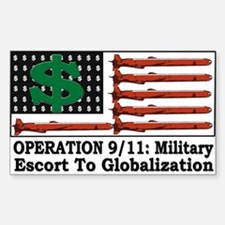 Operation 9/11 Globalization - Rectangle Decal