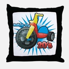 Rolling on 20's Throw Pillow