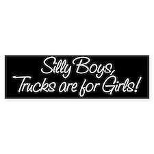 Silly Boys Bumper Bumper Sticker