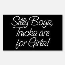Silly Boys Rectangle Decal