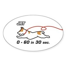 JRT 0-60 in 30 sec. Oval Decal