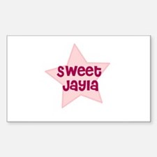 Sweet Jayla Rectangle Decal