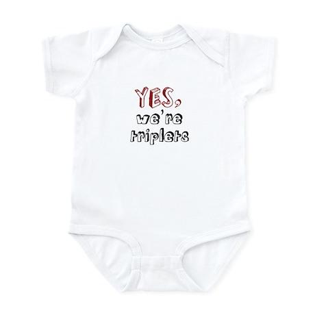 Yes, We're Triplets Infant Bodysuit