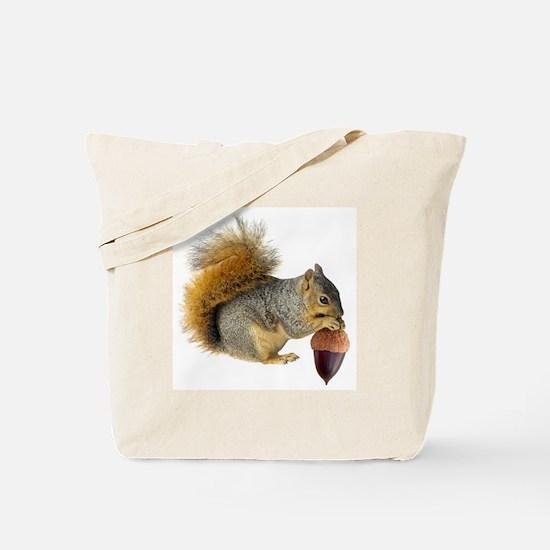 Squirrel Eating Acorn Tote Bag
