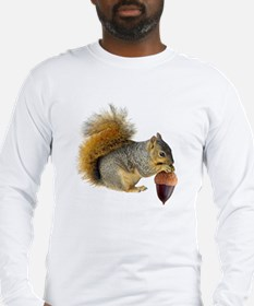 Squirrel Eating Acorn Long Sleeve T-Shirt