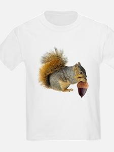 Squirrel Eating Acorn T-Shirt