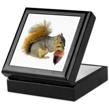 Squirrel Eating Acorn Keepsake Box