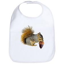 Squirrel Eating Acorn Bib