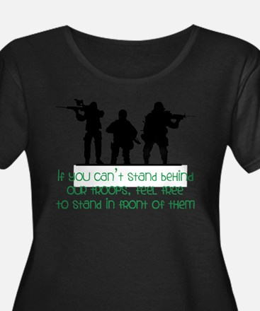 Our Troops Plus Size T-Shirt