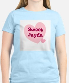 Sweet Jayda Women's Pink T-Shirt