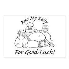 Rub My Belly For Good Luck Postcards (Package of 8