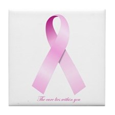 Cute Breat cancer awareness Tile Coaster