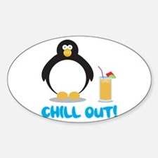 Chill Out! Oval Decal