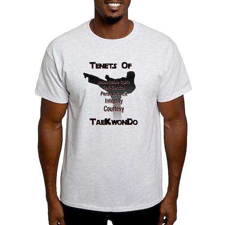 Traditional Taekwondo Tenets Light T-Shirt