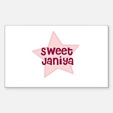 Sweet Janiya Rectangle Decal