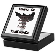 Traditional Taekwondo Tenets Keepsake Box