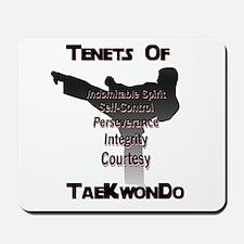 Traditional Taekwondo Tenets Mousepad