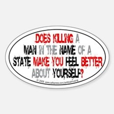 Killing make you better? Oval Decal