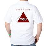 Zombie Food Pyramid Golf Shirt