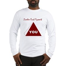 Zombie Food Pyramid Long Sleeve T-Shirt