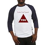 Zombie Food Pyramid Baseball Jersey